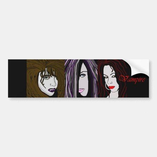 """Vampire """"Blood Line"""" Bumper Sticker"""