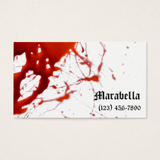 Vampire Bloody Business Card