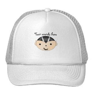 Vampire boy trucker hat