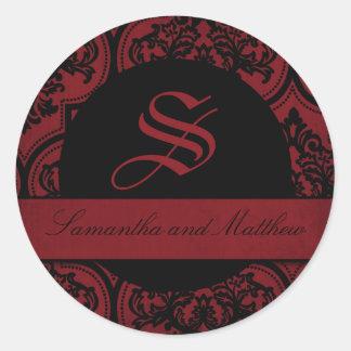 Vampire Bride Monogram Sticker