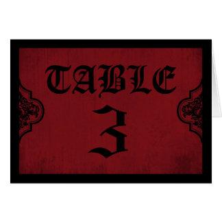 Vampire Bride Table Card