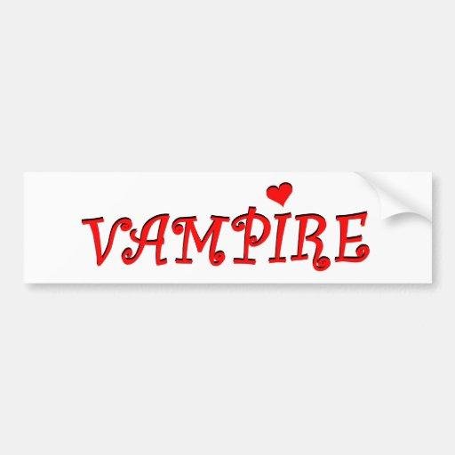 vampire bumper stickers
