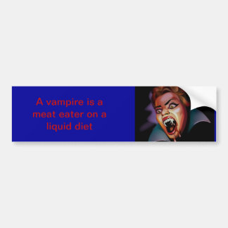 Vampire Bumpersticker Bumper Sticker