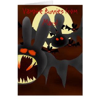Vampire Bunnies from Mars Cards