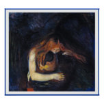 Vampire by Edvard Munch Poster