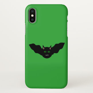 Vampire Cat Faced Bat Halloween iPhone case