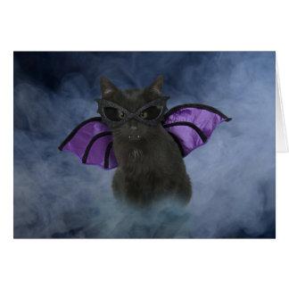 Vampire Cat Halloween Card
