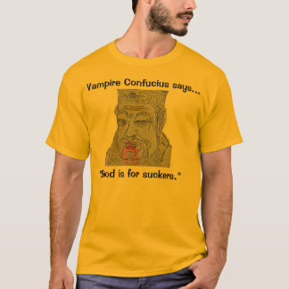 Vampire Confucius says blood is for suckers shirt