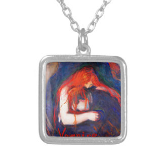 Vampire Edvard Munch Silver Plated Necklace