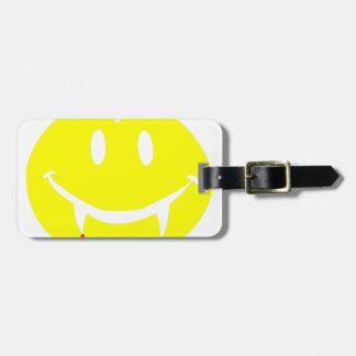 vampire emoji dracula luggage tag
