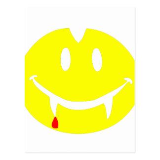 vampire emoji dracula postcard