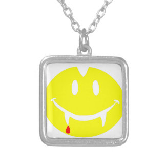 vampire emoji dracula silver plated necklace