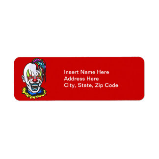 Vampire Evil Clown Return Address Label