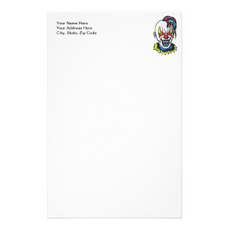 Vampire Evil Clown Stationery