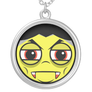 Vampire Face Silver Plated Necklace
