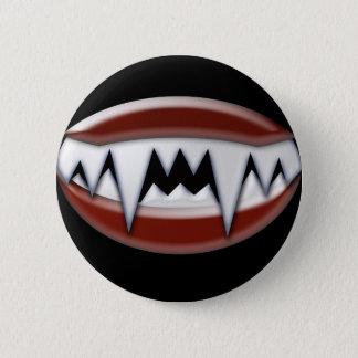 Vampire Fangs 6 Cm Round Badge