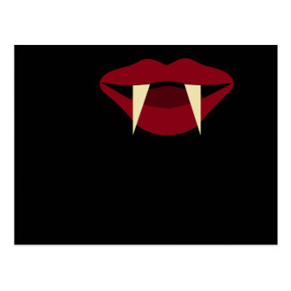 Vampire Fangs Blood Red Lips Postcard