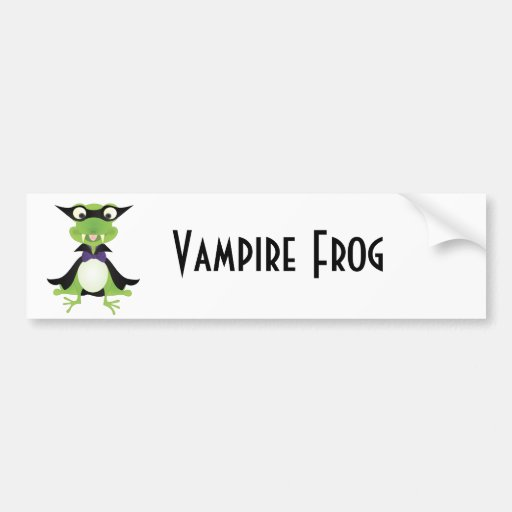 Vampire Frog Bumper Stickers