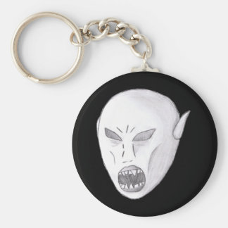 Vampire Ghoul Sketch Basic Round Button Key Ring