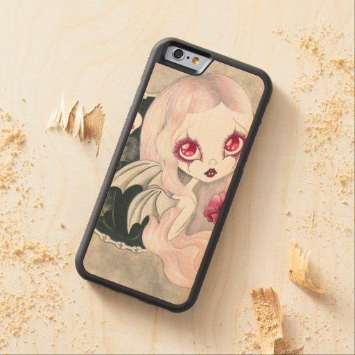 "Vampire Girl: ""Arabella"" Carved® Maple iPhone 6 Bumper Case"