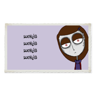 Vampire Girl Business Card