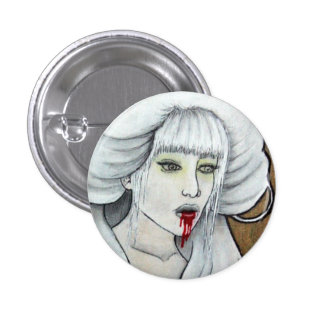Vampire girl - Hematemesis - dark horror art 3 Cm Round Badge
