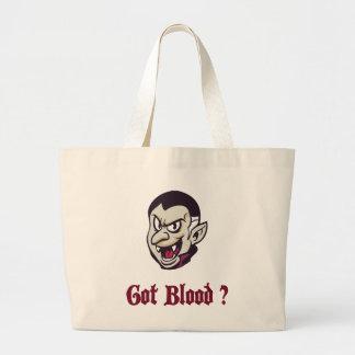 Vampire Got Blood Design Jumbo Tote Bag