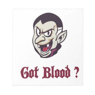 Vampire Got Blood Design Memo Pad