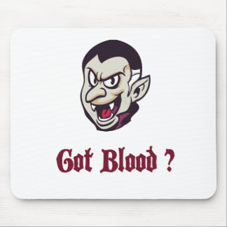 Vampire Got Blood Design Mouse Pad