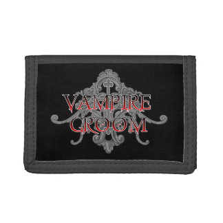 Vampire Groom Trifold Wallets