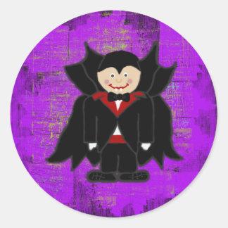 Vampire Halloween Envelope Seals Round Sticker