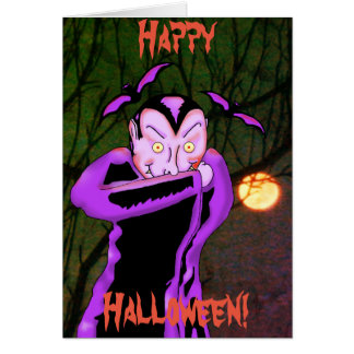Vampire Halloween Greeting Card