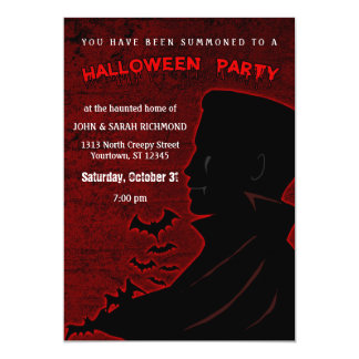 Vampire Halloween Invitations