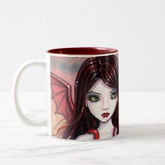 Vampire Halloween Mug by Molly Harrison