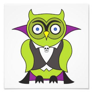 Vampire Halloween Owl Photo