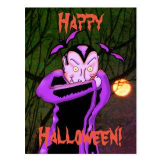 Vampire Halloween Postcard