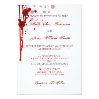 Vampire Halloween Wedding Fake Blood Red 11 Cm X 16 Cm Invitation Card