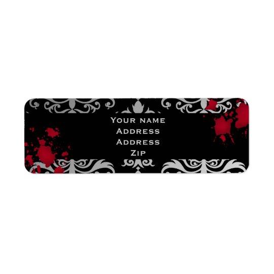 Vampire Halloween wedding Return Address Label