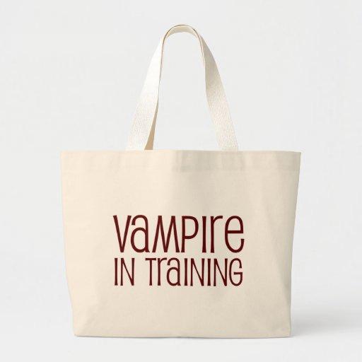 Vampire In Training Canvas Bags