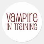Vampire In Training Round Sticker