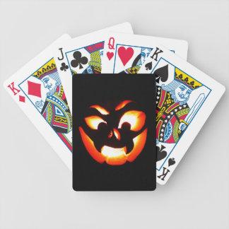 Vampire Jack-O-Lantern Bicycle Playing Cards