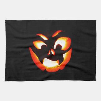 Vampire Jack-O-Lantern Tea Towel