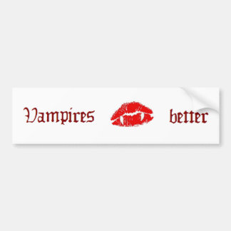 Vampire kiss Bumper Sticker