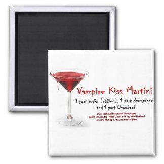 Vampire Kiss Martini Drink Recipe Fridge Magnet