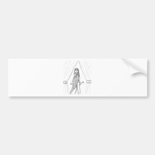 Vampire Lady Bumper Sticker