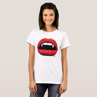 Vampire Lips & Fangs Women's T Shirt