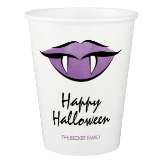 Vampire Lips Goth Halloween Party Paper Cup