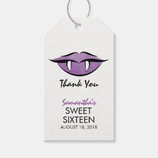 Vampire Lips Goth Sweet Sixteen Birthday Gift Tag