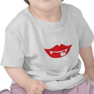 vampire lips love heart tees