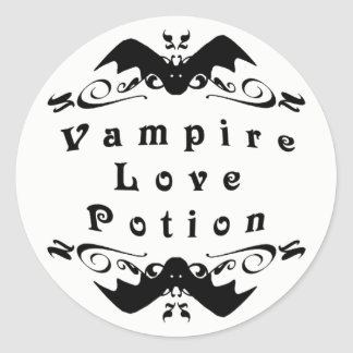 Vampire Love Potion Halloween Classic Round Sticker